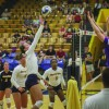 Volleyball wins on road, struggles in home game