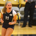Junior Lydia Orf celebrates during a game last year.