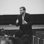 Kentucky Rep. John Tilley discusses HB 463 with students in the Curris Center Theater Tuesday. The University celebrated the day with several events.