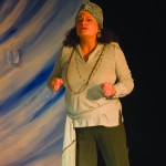 Journalism and mass communications instructor Elizabeth Thomas gets into character in 'Eleemosynary.' The play is showing at 7:30 p.m. today through Tuesday in Actor's Studio Theatre, located at Wilson Hall 310B.