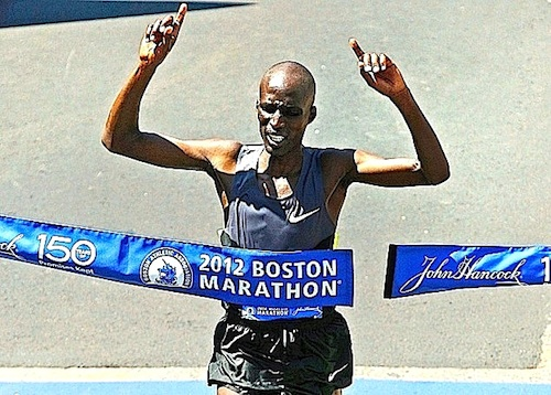 Wesley Korir, who won the Boston Marathon Monday, spent one year at Murray State before transferring to Louisville after the men's track and field program was cut. || Photo courtesy of Associated Press