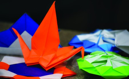 Students who attended Origami Night had the chance to learn the art form. || Kylie Townsend/The News