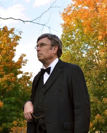 Robert Valentine portrays University founder Rainey T. Wells.    Kylie Townsend/The News