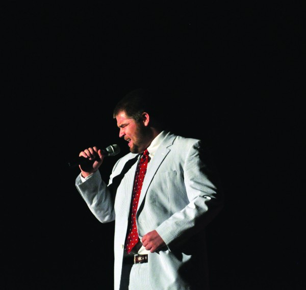 Jack Orem, member of Pi Kappa Alpha fraternity, was crowned Mr. MSU 2012 last Friday. || Kylie Townsend/The News