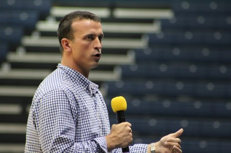 Chris Herren was invited by Head Basketball Coach Steve Prohm to speak to students and athletes at the CFSB Center last Wednesday. ||Maddie Mucci/The News