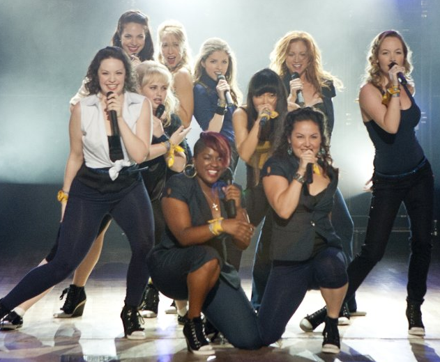 "The Barden University Bellas compete in group a capella competitions to recreate a new reputation for themselves in ""Pitch Perfect."" 