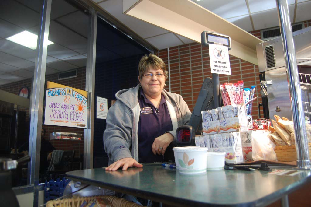 Roxann Downey has been working at Business Express for 10 years. Prior to that she work at Fast Track for eight years. || Anna Taylor/The News