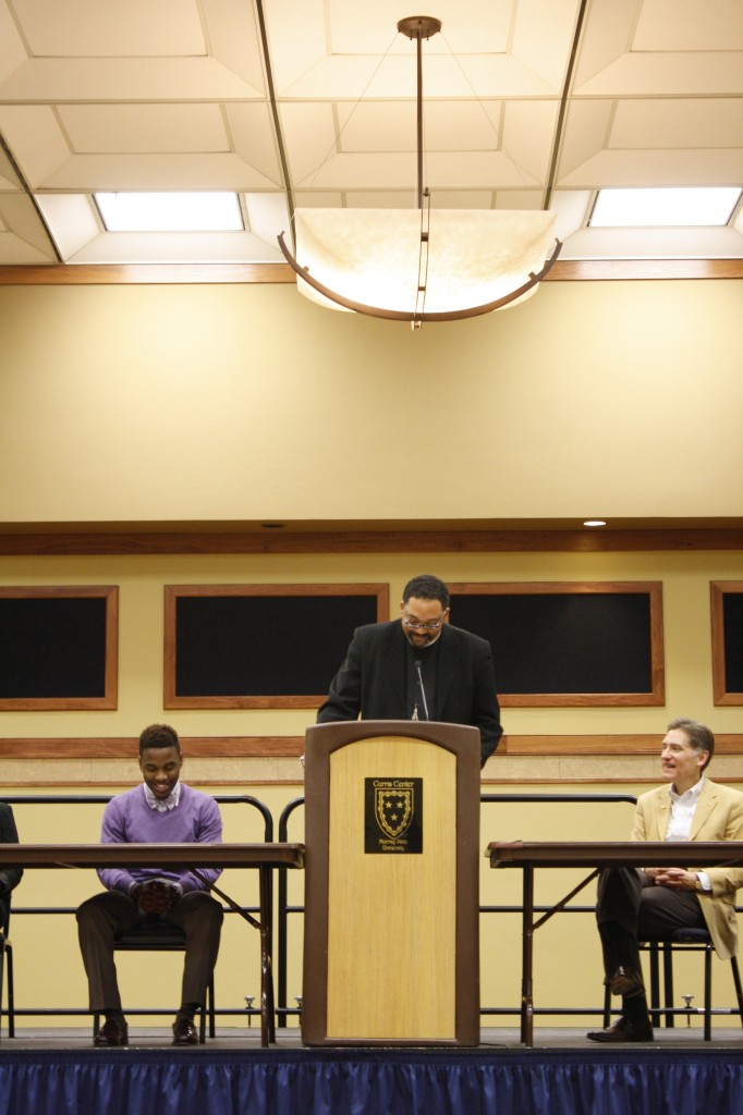 Kristen Allen/The NewsHenry Watson speaks at the annual Martin Luther King Jr. event in the Curris Center on Jan. 21.