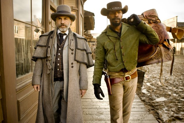"Christopher Waltz, who was nominated for his role as Dr. King Schultz, the bounty hunter and Jamie Foxx, who plays the role of Django, Schultz's partner, both star in Quentin Tarantino's latest film, ""Django Unchained."" 