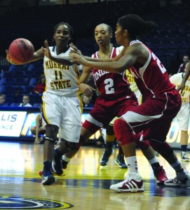 Junior Erica Burgess (pictured) and senior Kyra Watson missed the loss to Eastern Kentucky on Dec. 31 and the win against UT Martin on Jan. 5. || Michelle Grimaud/The News