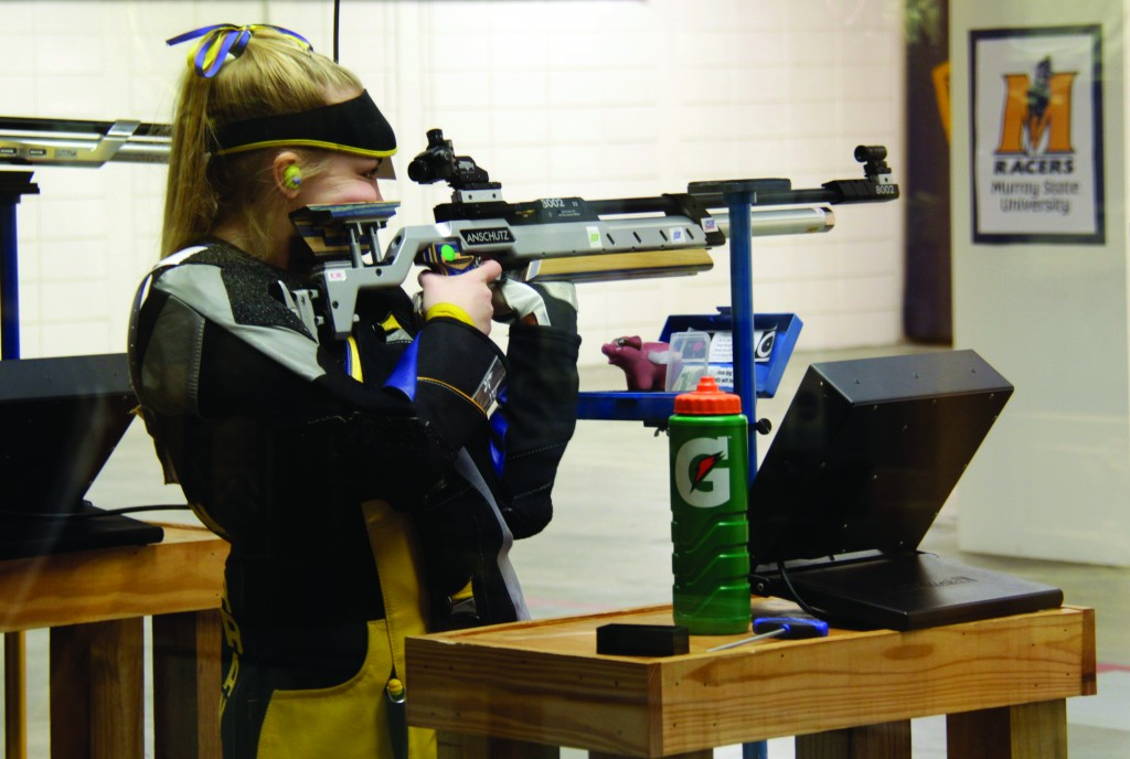 The Racer rifle team finished 10th overall, missing a trip to the NCAA Championships by two rankings. || Lori Allen/The News