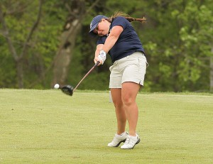 Junior Delaney Howson was named to the OVC All-Tournament team after finishing eight earlier this week. Photo courtesy of Sports Information.