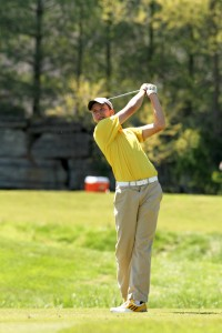 Freshman Jared Gosser tied for 29th place individually in the OVC?Golf Championship last weekend. Photo courtesy of Sports Information