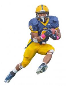 "Duane Brady RB • 5'8"" • 180 Duane is a very underlooked aspect of our offense. He's a very good, coachable kid and he probably knows the offense better than the quarterbacks sitting back there with him. On top of being an extremely good athlete, he's very smart and you can do a lot of things with him. He's just an all-around good back. -Offensive Coordinator  Mitch Stewart"
