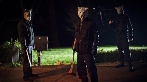 "drafthouse.com In the latest horror flick, ""You're Next,"" murderers wearing animal masks attack a family who is coming together after being apart for a long time to celebrate their parents' anniversary."