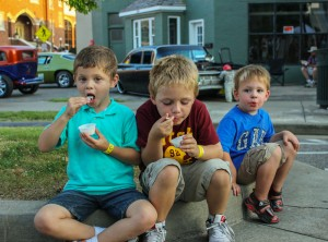 Photos by Kate Russell/The News Free ice cream was one of the many indulgences offered during the 14th annual Ice Cream Festival.