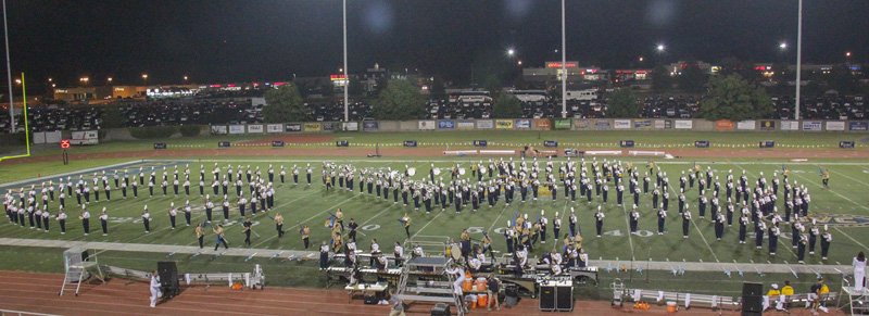 Racer band entertains and enthralls at half time. Lori Allen / The News