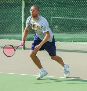 File photo Junior Aleks Mitric was one of four players selected to participate in the Southern Intercollegiate Championship in Georgia. He played a singles match, and he played doubles with his brother, Nicholas.
