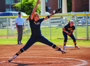 Torrey Perkins/The News Sophomore J.J. Francis picked up two wins when the Racers took on St. Catherine Sunday.