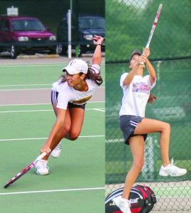 Lori Allen/The News Eleonore (left) and Verginie Tchakarova took home the championship title in the opening tournament for the fall season