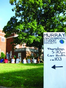 File Photo The Murray Environmental Student Society meets 5:30 p.m. every Thursday on the Carr Health lawn.