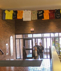 Jenny Rohl // The News /  The shirts in the Clothesline Exhibit feature a variety of impactful messages on the topic of violence.