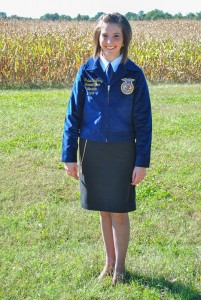 Torrey Perkins/The News  Junior Chelsea Daugherty is running for one of six national FFA offices.