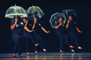 Torrey Perkins/The News Alpha Kappa Alpha members perform a step routine Saturday.