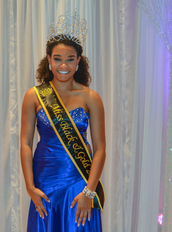 Megan Godby/Contributing photographer Morgan Pearson is crowned the Miss Black and Gold 2013.