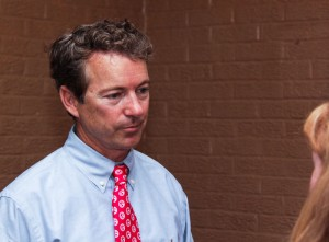 Lori Allen // The News / Sen. Rand Paul  listens to his constituents.