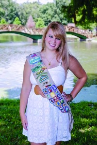 Photo provided Freshman Casey Blakenship has been involved with Girl Scouts of America for 14 years.