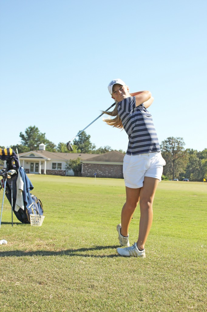 Kate Russell/The News Freshman Sydney Trimble finished fourth individually on the Murray State team Wednesday.