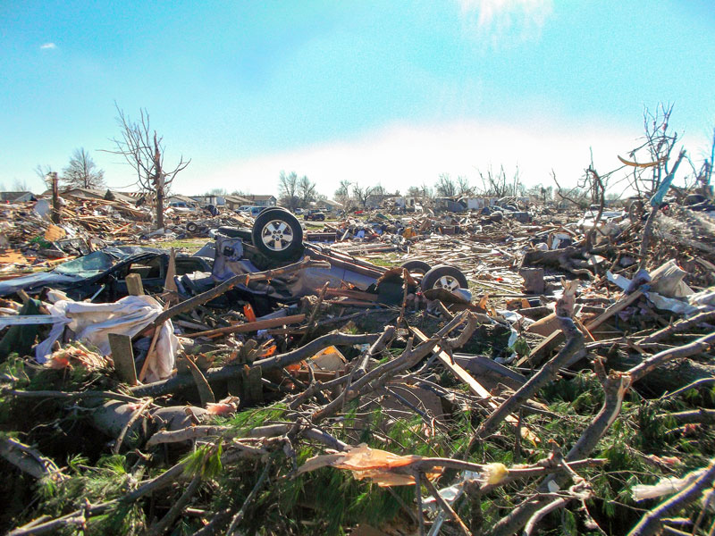 Photo contributed by Adam Tignor /// Anna Tignor, senior from Washington, Ill., came home to her neighborhood devastated by a recent string of tornados that hit the Midwest.