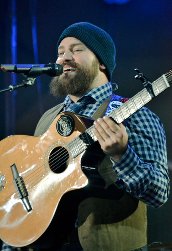 "Megan Godby/The News Zac Brown performs ""Southern Wind"" to open the show at the CFSB Center Saturday night."
