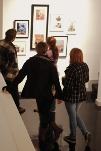 Lori Allen/The News Students explore the Clara?M. Eagle Gallery in their spare time.