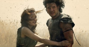 "Photo courtesy of sevendesktop.com Emily Browning and Kit Harington are an the explosive couple in 'Pompeii."" The movie was released in theaters Feb. 21."