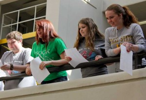 Students throw insults at one another during a Shakespearean insult battle. Kate Russell/The News