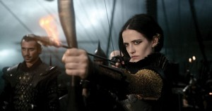 "Photo courtesy of post-gazette.com Artemisia, played by Eva Green, shoots a flaming arrow toward the enemy's wooden ships during a battle scene of ""300: Rise of an Empire."""