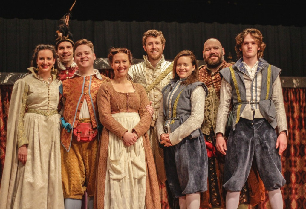 """Lori Allen/The News The performers from The American Shakespeare Center from Staunton, Va., performed """"The Twelfth Night"""" in Lovett Auditorium last year."""