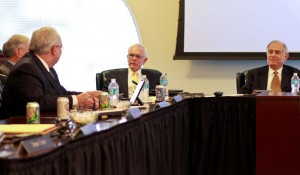 The Board of Regents voted unanimously in favor of Robert Davies becoming Murray State's 13th president Wednesday. Photo by Fumi Nakamura // The News.