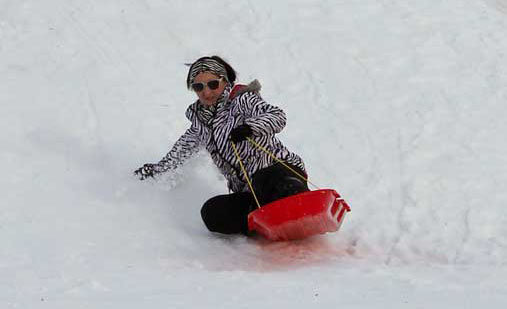 Kate Russell/The News Students and families in Murray used the campus and local snow days to go sledding.