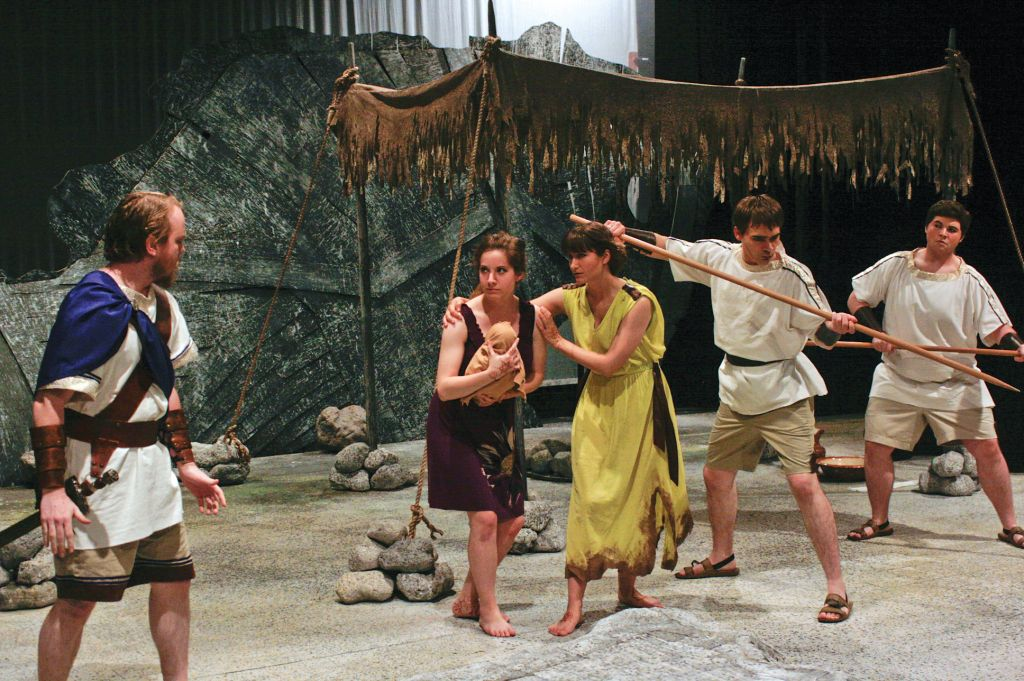 "Photo courtesy of Gross Magee Cast members perform ""The?Trojan Women."""
