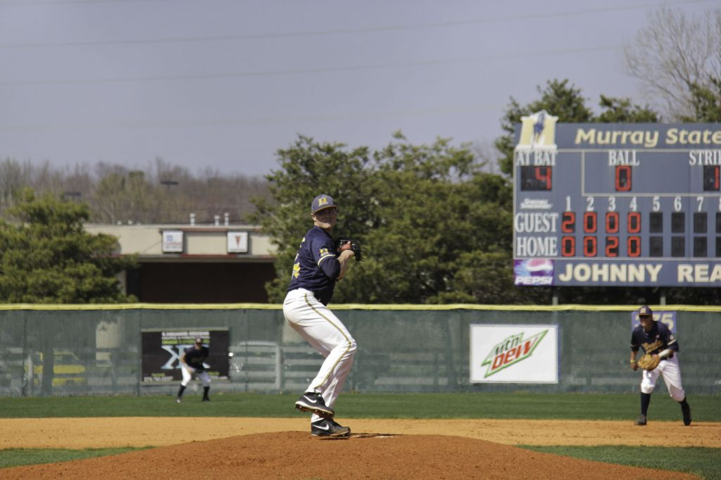 Lori Allen/The News Junior left-handed pitcher Brock Downey faces Eastern Illinois.