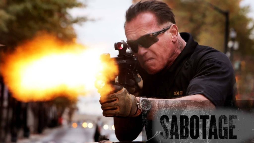 "Photo courtesy of movieplots.com Schwarzenegger stars in the action-packed movie ""Sabotage,"" which was released in theaters March 28."