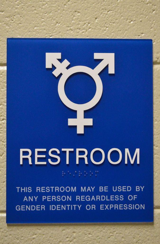 Hannah Fowl/The News Gender neutral bathrooms are located in the Curris Center, Wells Hall and the Business Building.