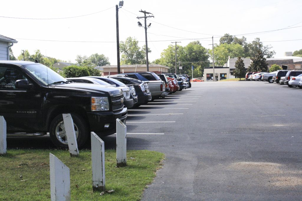 Kalli Bubb/The News Limited student parking has caused frustrations for students trying to get to class on time.
