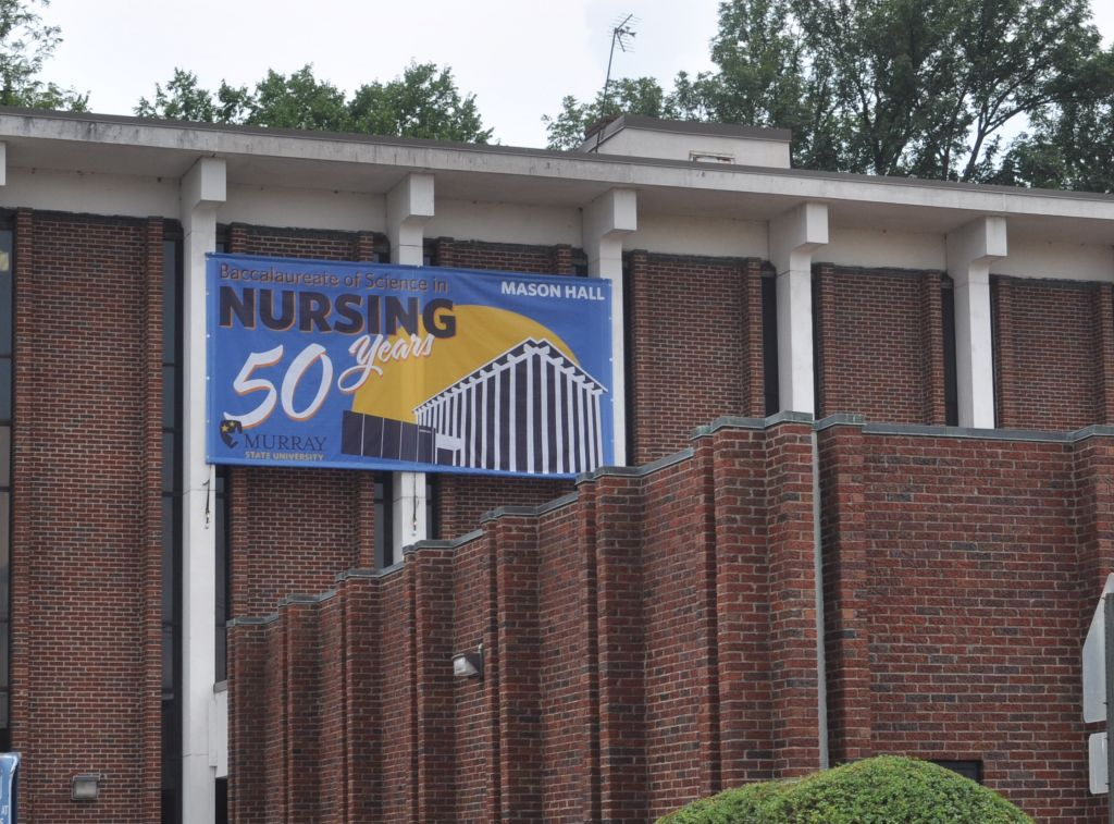 Kylie Townsend/The News A student walks past Mason Hall, where nursing students take a majority of their classes.