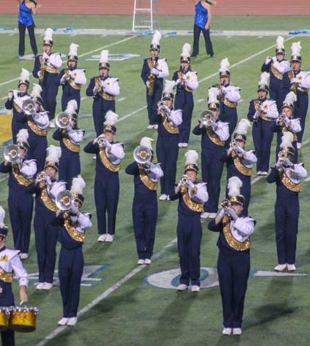 Jenny Rohl/The News Racer Band performs its routine between performances of regional bands during last year's Festival of Champions.