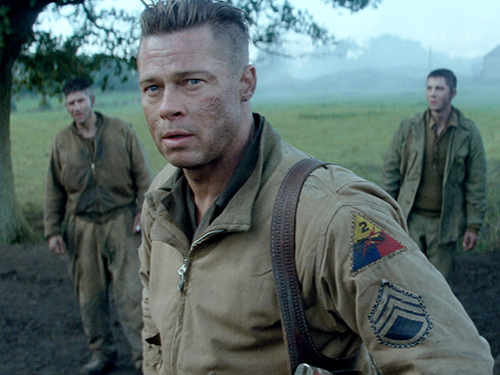 Photo courtesy of hdmovietrailers.eu Brad Pitt stars in 'Fury' as a sergeant in the World War II battle movie. The film was released in theaters Oct. 17.
