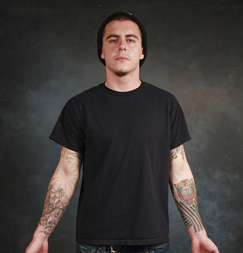 Photo illustration by Fumi Nakamura Kade Cullop dresses in casual attire and business attire to represent the stigma still associated with tattoos in the workplace.